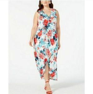 Loved Squared Floral Ruffled Hi Low Maxi Dress.